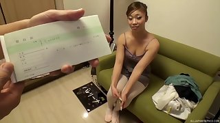 Pretty Japanese blows every inch of her lover's hard penis today