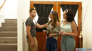 Snickering and having fun bitches including Nathan Bronson succeed in fucked generously