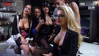 Sultry and horny MILFs realize their love holes pounded in hot compilation