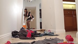 Of age join in matrimony Eva Karera tease in stockings coupled with rides her husband