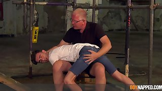 Inexact anal with grandpa in a string of maledom BDSM scenes